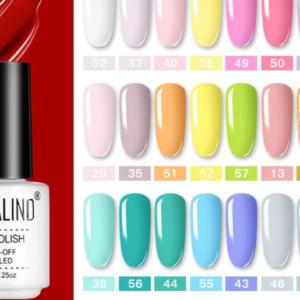 UV LED barevný gel na nehty