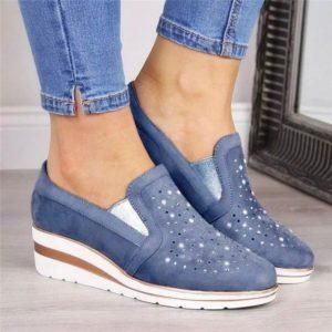 Dámské stylové boty na platformě Renata