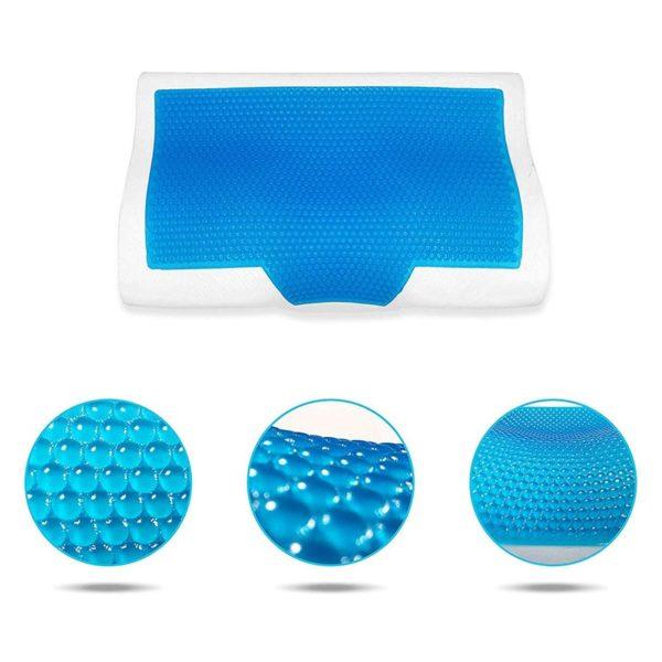 Zdravotní ortopedický polštář z paměťové pěny a chladícím gelem