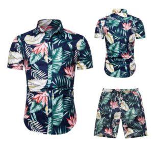 Pánský letní pohodlný komplet Alex   košile + kraťasy