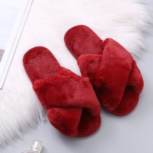 Dámské moderní chlupaté papuče Kitta