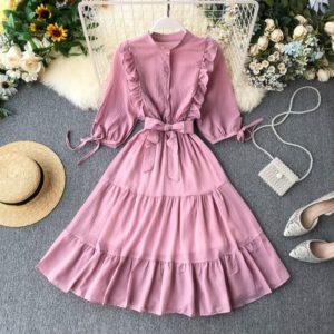 Dámské luxusní dlouhé šaty | jaro - podzim