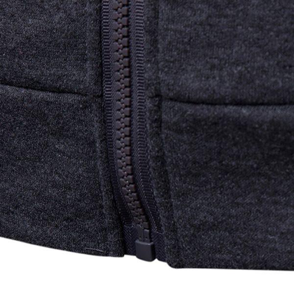 Pánská stylová mikina se zipem a kapucí