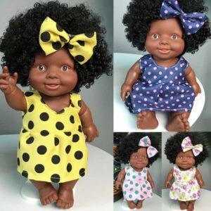 Africká dětská realistická panenka