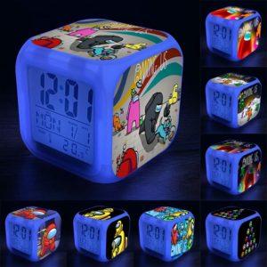 Svítící budík pro děti s herními motivy