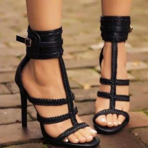 Luxusní dámské páskové boty na vysokém podpatku Analia