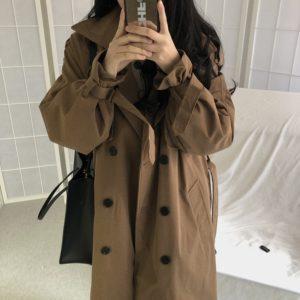 Dámský dlouhý jarní kabát