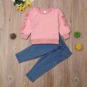 Dívčí bavlněný set módního oblečení