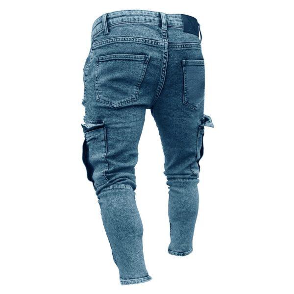 Pánské skinny džínové cargo pants