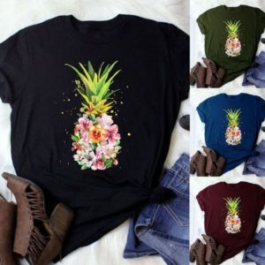 Dámské tričko s potiskem ananasu