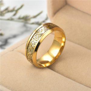 Luxusní prsten pro páry ve zlaté barvě