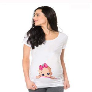 Dámské tričko pro těhotné s krátkým rukávem