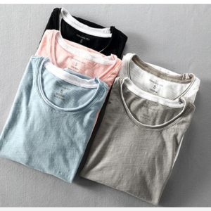 Pánské pohodlné lehce potrhané tričko