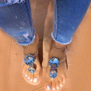 Luxusní sandálky s ozdobným diamantem