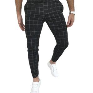 Pánské společenské kostkované kalhoty Connor