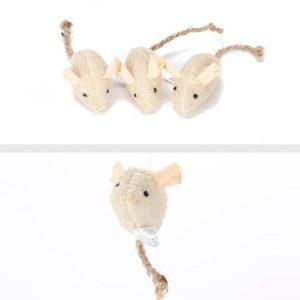 Plyšová simulační hračka pro kočky - myška