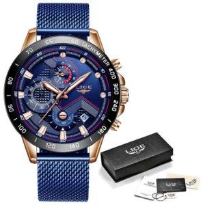 Pánské módní luxusní chronografové hodinky z nerezi