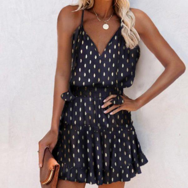 Dámské elegantní krátké letní šaty