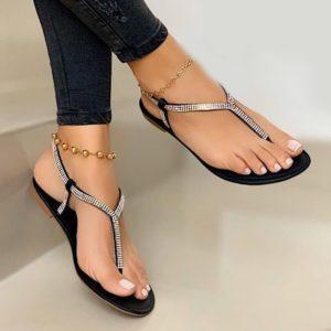 Luxusní dámské lesklé sandálky Esmer