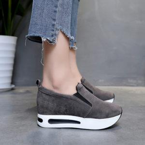 Dámské módní boty na platformě