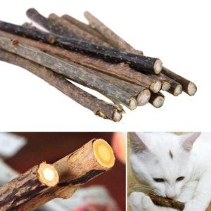 Přírodní zubní kartáček pro kočky - 10 ks
