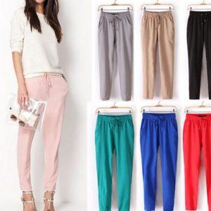 Dámské barevné společenské kalhoty