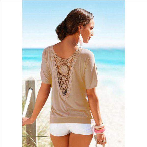 Luxusní dámské tričko s detailem na zádech
