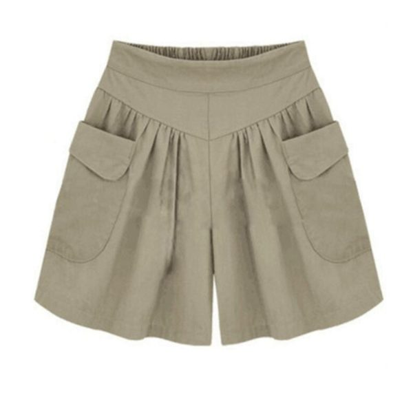 Neformální dámské elastické šortky s kapsami