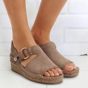 Dámské slaměné letní sandálky