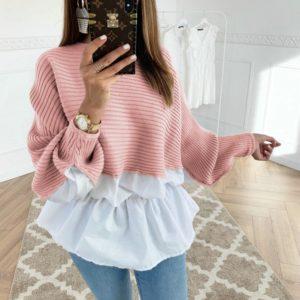 Luxusní dámský svetr s košilí Aurora