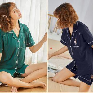Dámské bavlněné letní pyžamo