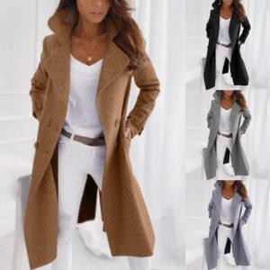 Dámský jarní kabát s knoflíky