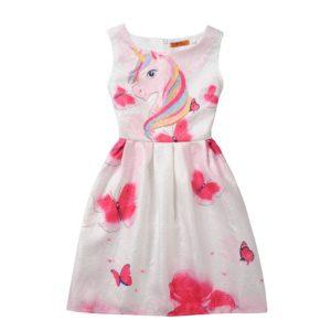 Dívčí slavnostní koktejlové letní šaty s jednorožci a jiné