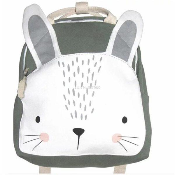 Roztomilý výletní látkový dětský batůžek s nášivkou zvířátek