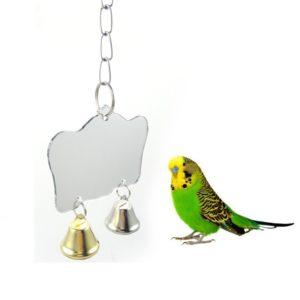 Závěsné zrcátko s ptačím zvonečkem