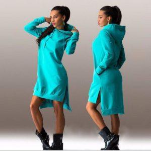 Dámské moderní stylové mikinové šaty Vica