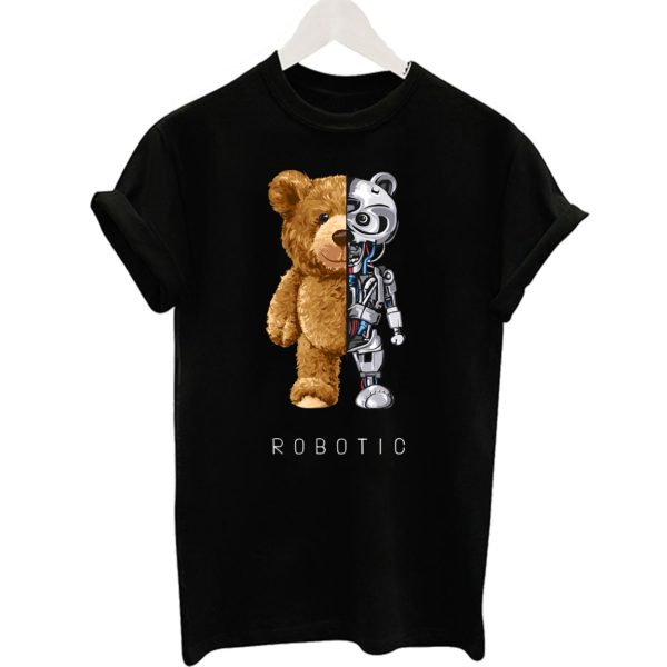 Krásné tričko s robotickým medvídkem
