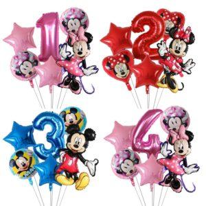 Krásné nafukovací narozeninové balónky s Mickey Mousem - 6 ks