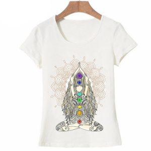 Dámské jednoduché tričko s tématem jógy, meditace a vnitřního klidu
