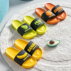 Dámské gumové pantofle s ovocem
