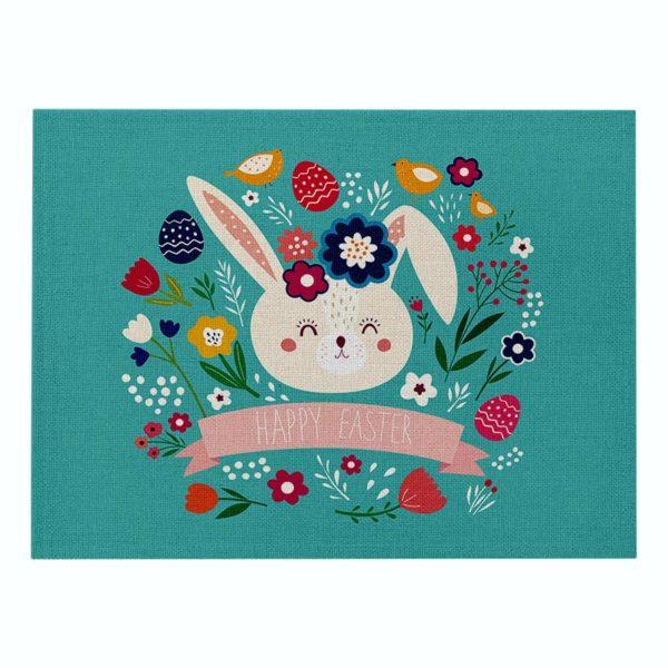 Stolní velikonoční ubrousky s králíčkem