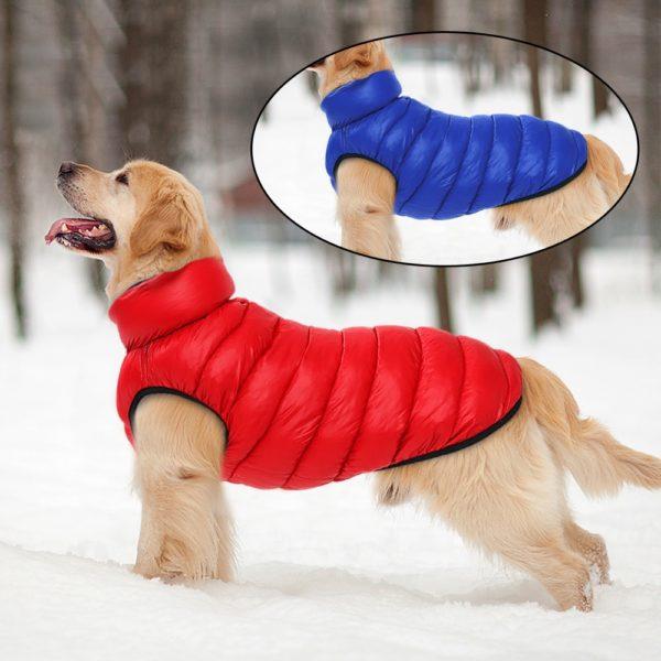 Oboustranná zimní vesta pro psa