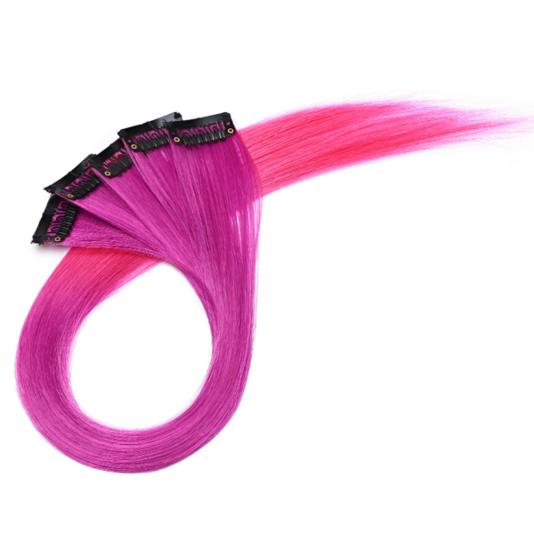 Barevné klipy do vlasů 50g