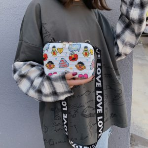 Roztomilá módní dámská mini kabelka s Elmo potiskem
