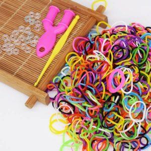 DIY pletací gumičky do vlasů a na vyrábění 300 ks