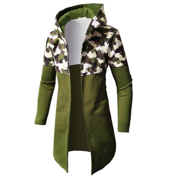 Dlouhá stylová mikina s kapucí Mpatthe