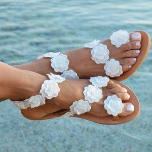 Dámské sandálky s květinami Amber