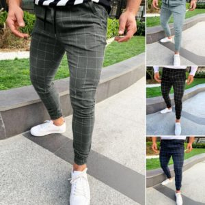 Módní pánské kostkované kalhoty