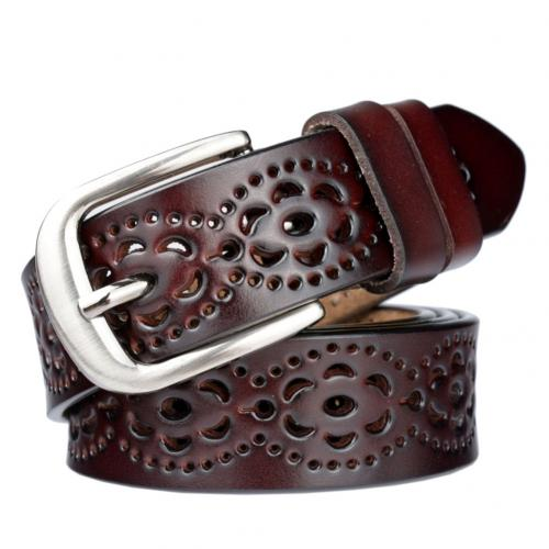 Dámský koženkový opasek s designovými detaily