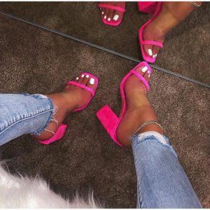 Dámské neonové boty na podpatku Claire